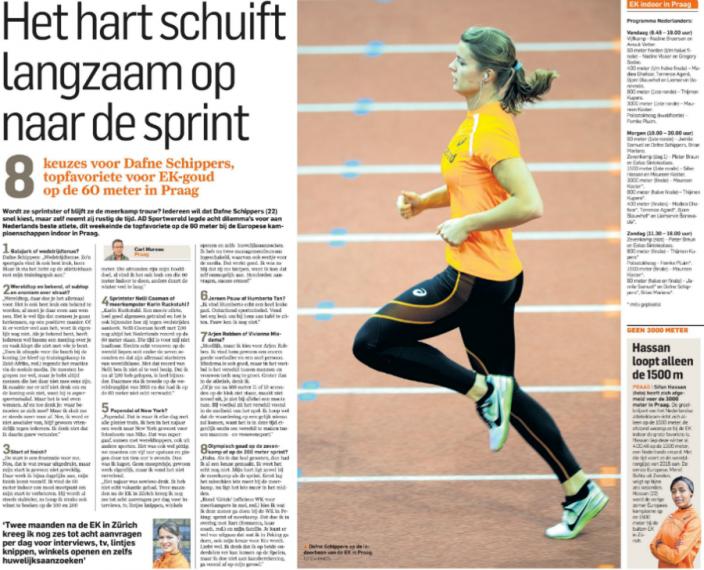 Dafne Schippers Algemeen Dagblad